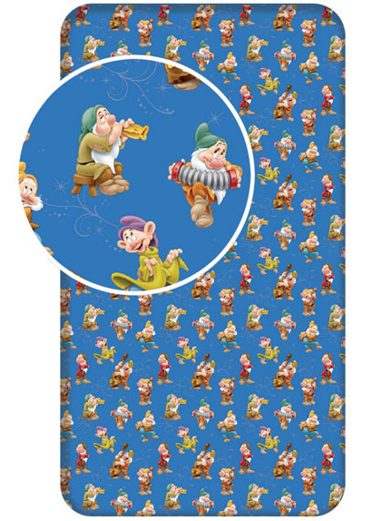 Jerry Fabrics Dětské prostěradlo Princezna Sněhurka bavlna 90x200 cm