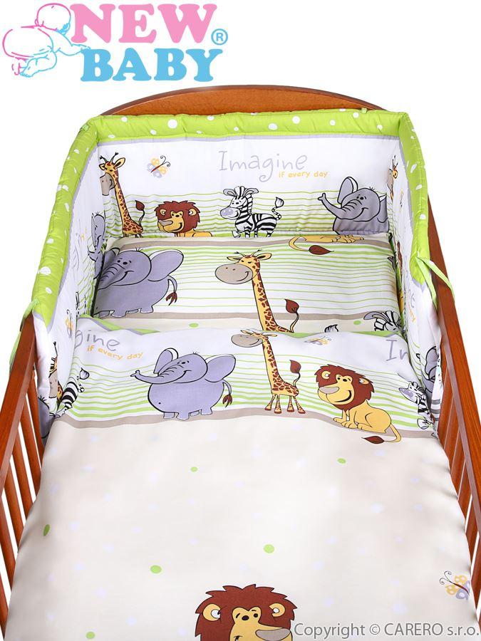 2-dílné ložní povlečení New Baby 100x135 cm zelené safari