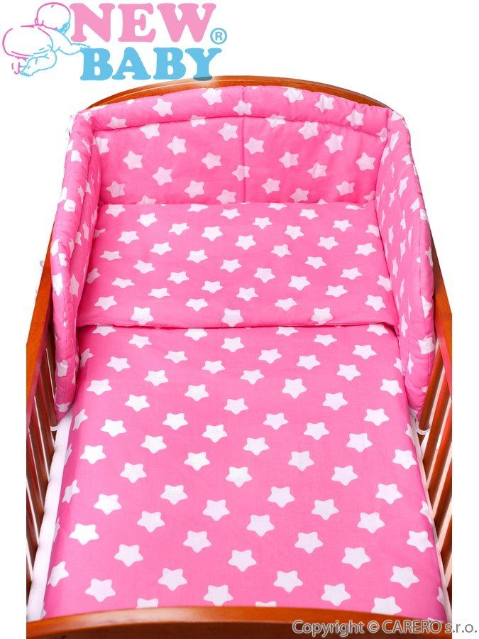 2-dílné ložní povlečení New Baby 90x120 cm hvězdičky růžové