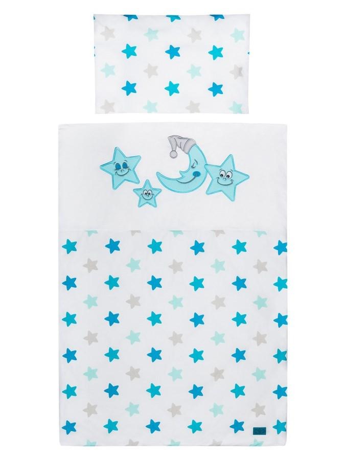 2-dílné ložní povlečení Belisima Veselé Hvězdičky 90x120 cm modré