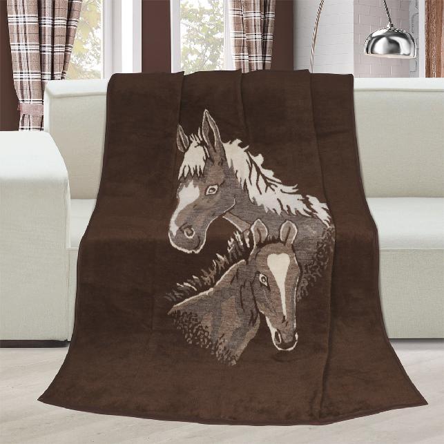 Brotex Deka Karmela jednolůžko 150x200cm koně