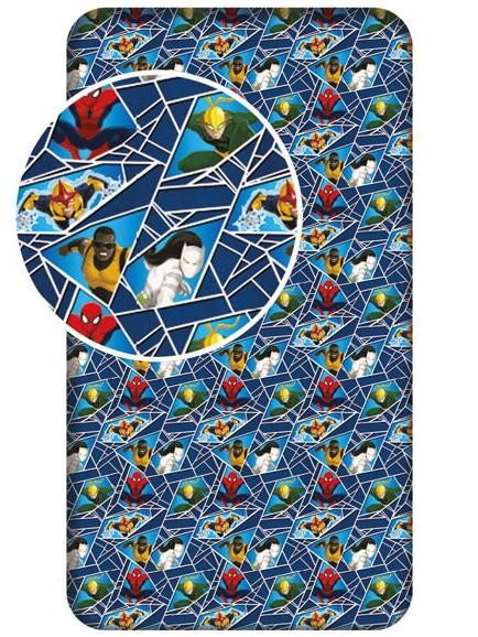 Jerry Fabrics Dětské prostěradlo Spiderman bavlna 90x200 cm
