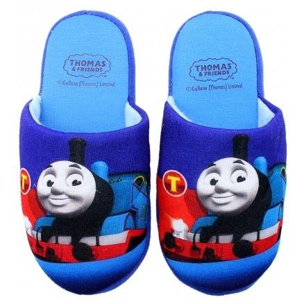 Dětské chlapecké pantofle Setino 870-489 Mašinka Tomáš sv. modrá