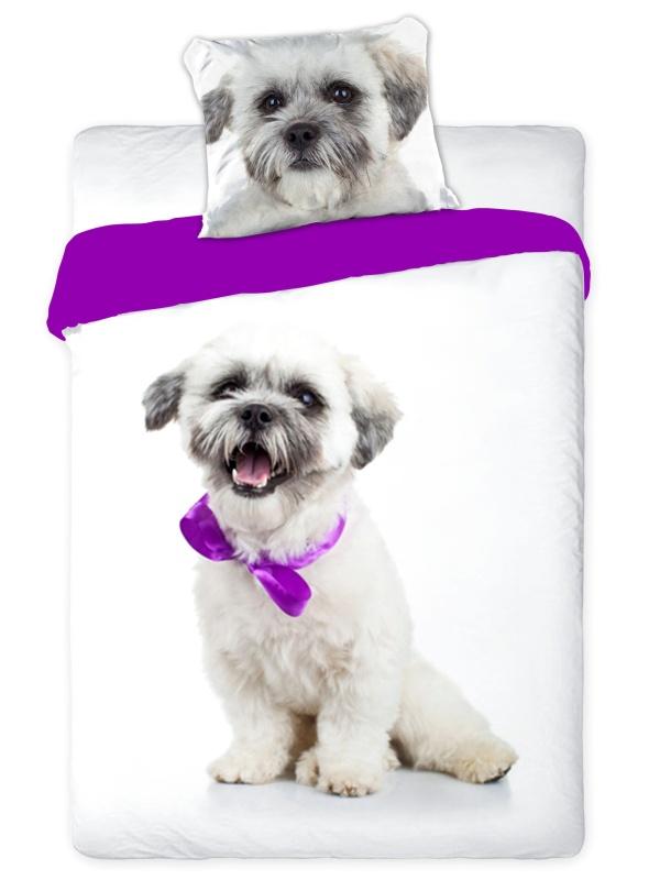 Faro Dětské povlečení Best Friends 007 Dog bavlna 140x200 + 70x90 cm