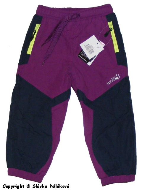 Kojenecké zateplené šusťákové kalhoty Wolf B2571 Fialové, vel. 74