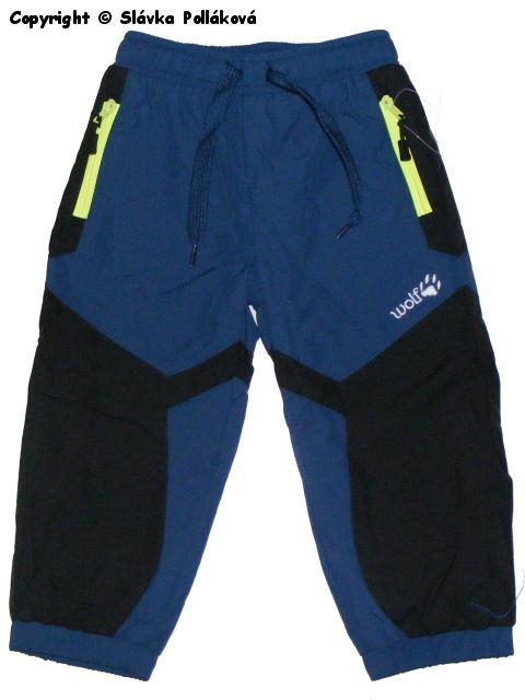 Kojenecké zateplené šusťákové kalhoty Wolf B2571 Tmavě modré, vel. 74