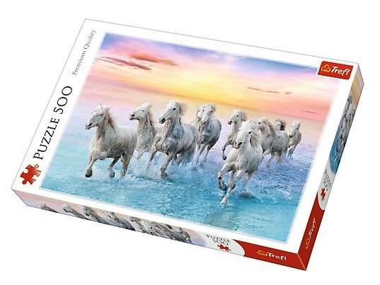 Trefl puzzle Bílí koně v běhu 500 dílků