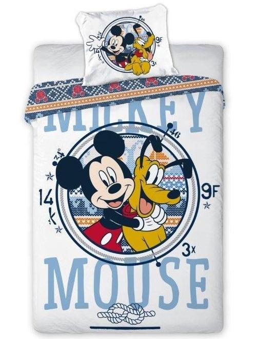 Faro Dětské povlečení Mickey a Pluto bavlna 100x135 cm