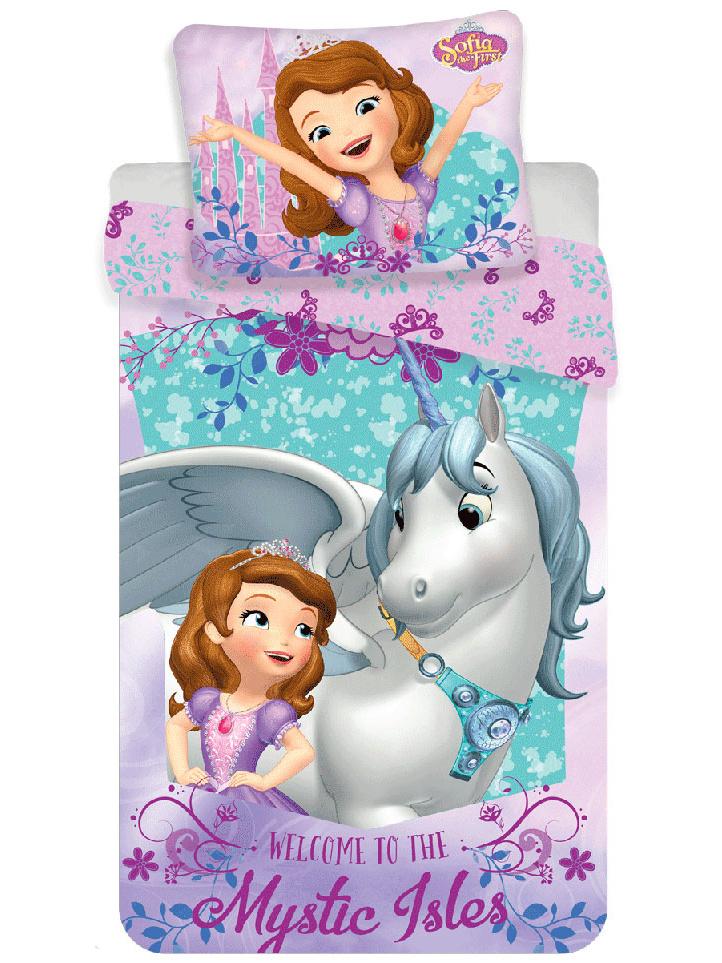 Jerry Fabrics Dětské povlečení Princezna Sofie první jednorožec bavlna 140x200 + 70x90 cm
