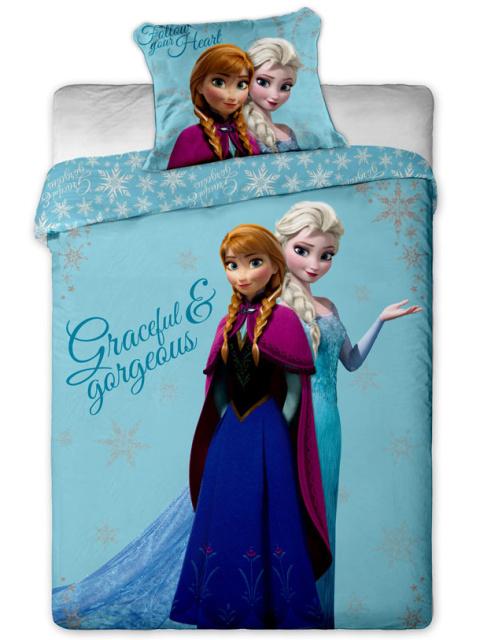Jerry Fabrics Povlečení Ledové Království sestry bavlna 140x200 + 70x90 cm