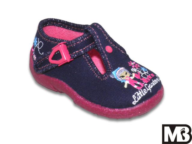 Dětská dívčí plátěná obuv MB Kids 642 Zuzia