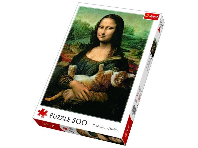 Trefl puzzle Mona Lisa s kočkou 500 dílků