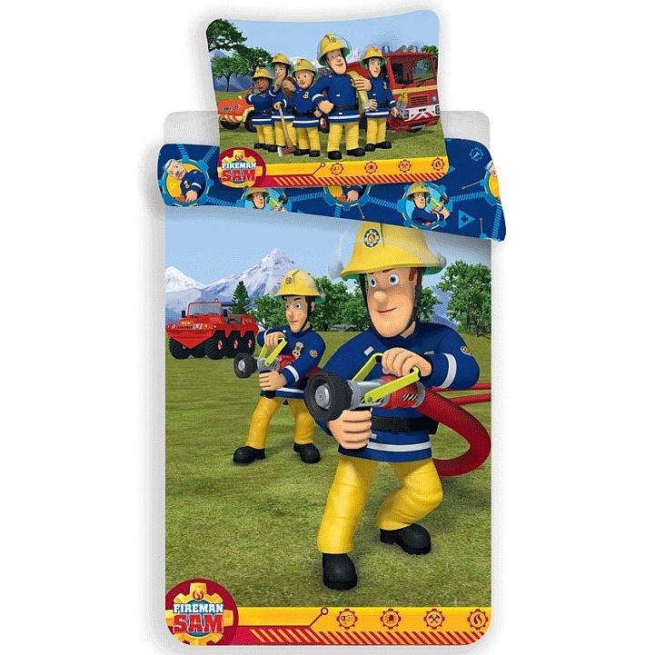 Jerry Fabrics Dětské povlečení Požárník Sam 008 bavlna 140x200 + 70x90 cm