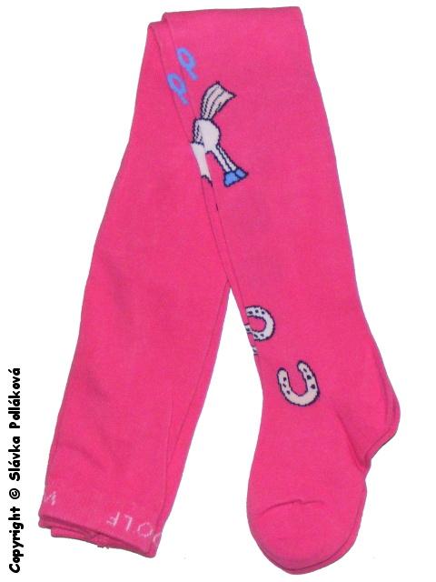 Dětské dívčí punčocháče Wolf P2522 Růžové, vel. 104/110