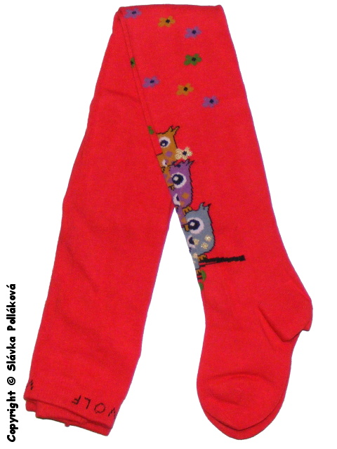 Dětské dívčí punčocháče Wolf P2522 Červené, vel. 104/110