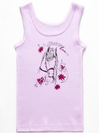 Dětské dívčí spodní tílko Wolf S2661 Růžové, vel. 122/128