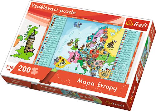 Trefl puzzle Vzdělávací puzzle: Mapa Evropy 200 dílků