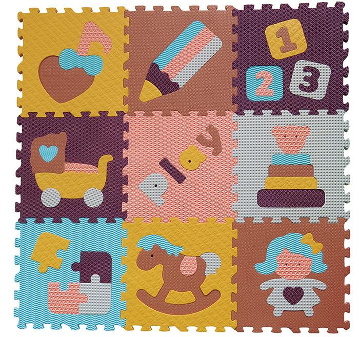 IGRASZKA.S.C. Pěnové puzzle Svět hraček 9 dílků hnědá