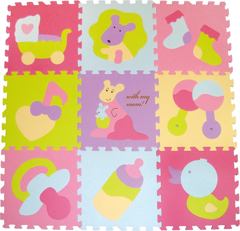IGRASZKA.S.C. Pěnové puzzle Barevné hračky 9 dílků