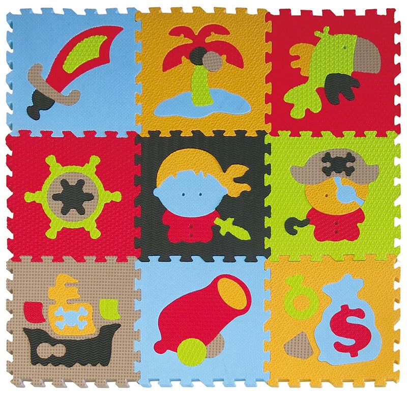 IGRASZKA.S.C. Pěnové puzzle Piráti 9 dílků