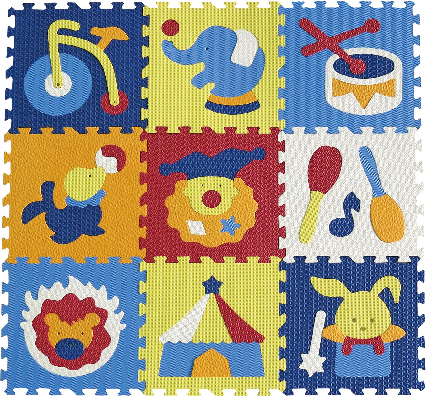 IGRASZKA.S.C. Pěnové puzzle Cirkus 9 dílků