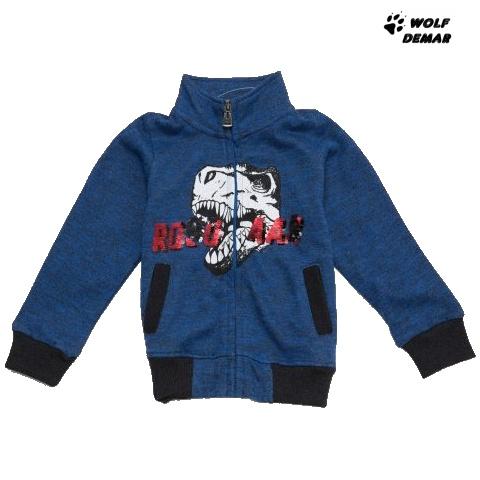 Dětská chlapecká mikina Wolf M2845 tmavě modrá