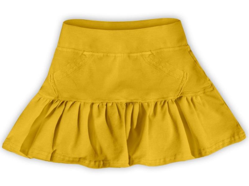 Dětská dívčí bavlněná sukně Jožánek žlutá, vel. 134