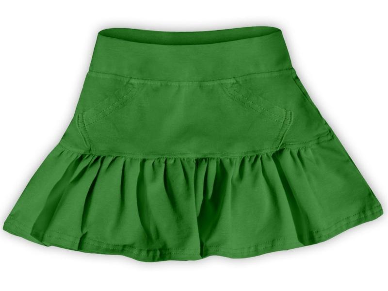 Dětská dívčí bavlněná sukně Jožánek tm. zelená, vel. 134