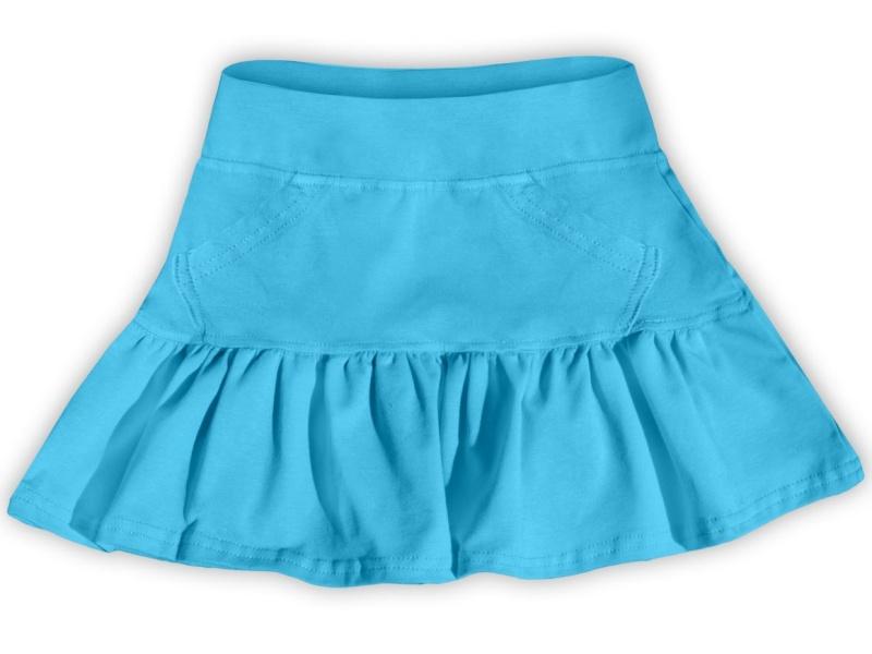 Dětská dívčí bavlněná sukně Jožánek tyrkysová, vel. 110