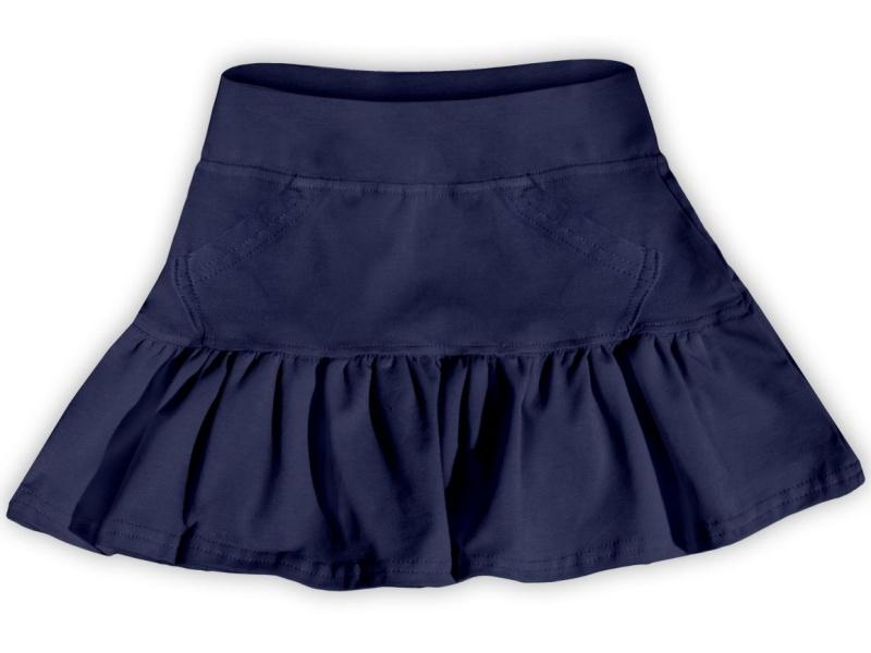 Dětská dívčí bavlněná sukně Jožánek tm. modrá, vel. 140