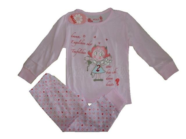 Dětské dívčí pyžamo Wolf S2551 Světle růžové, vel. 122