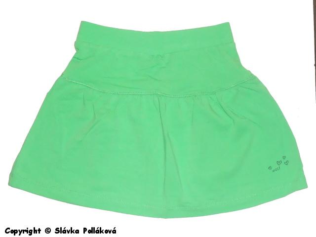 Dětská dívčí sukně Wolf H2563 Zelená, vel. 110
