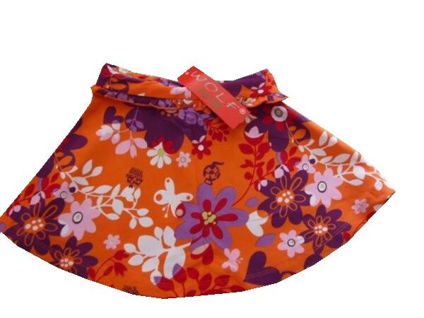 Dětská dívčí sukně Wolf H2052 Oranžová, vel. 98
