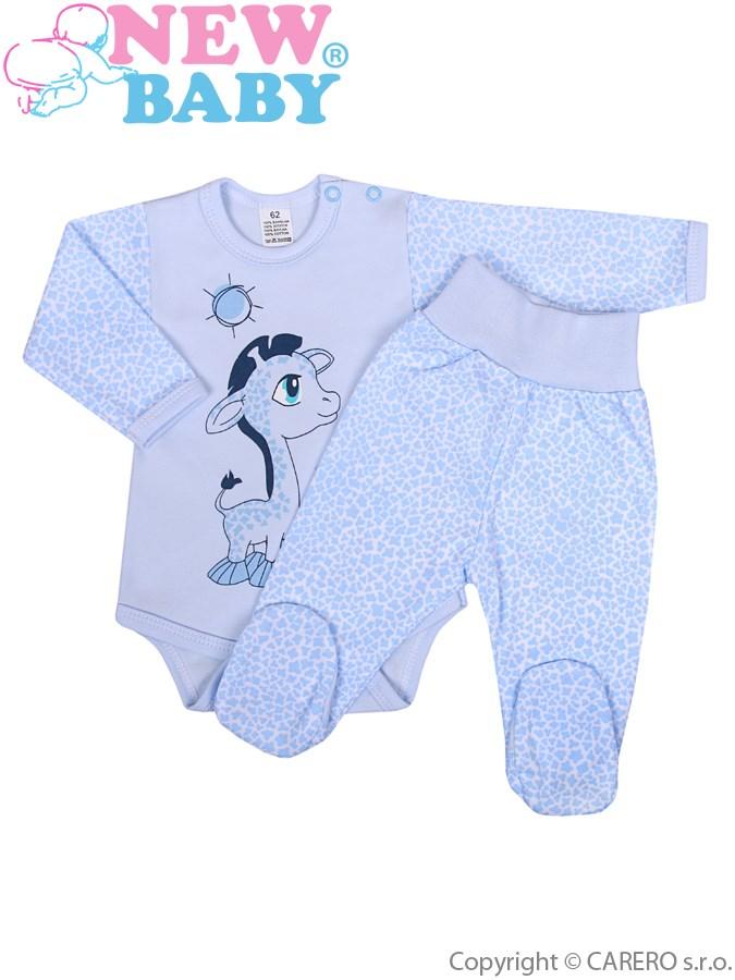 2-dílná souprava New Baby Giraffe modrá, vel. 80