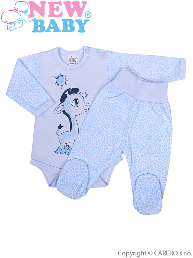 2-dílná souprava New Baby Giraffe modrá, vel. 68