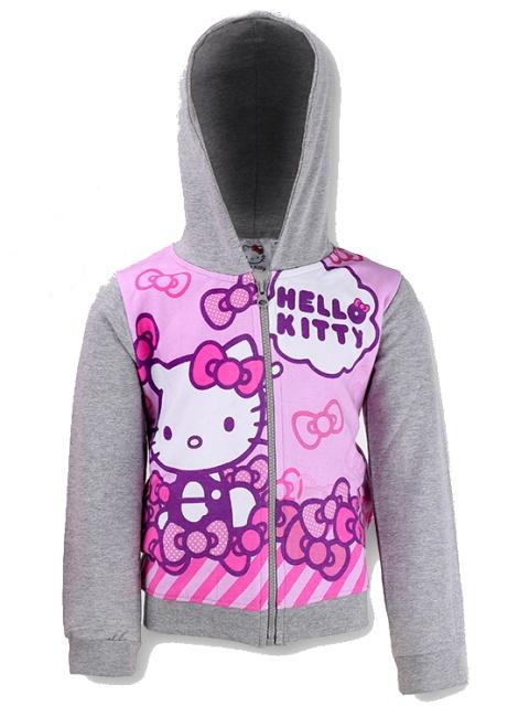 Dětská dívčí mikina Setino Hello Kitty 990-594 Šedá, vel. 116