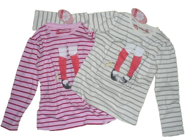 Dětské dívčí triko dlouhý rukáv Wolf S2244 Růžové, vel. 104
