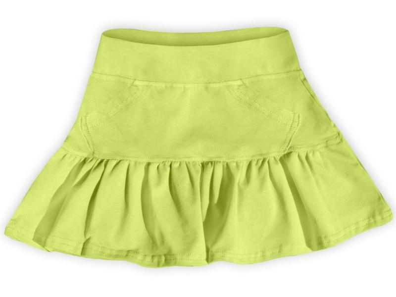 Dětská dívčí bavlněná sukně Jožánek světle zelená, vel. 134