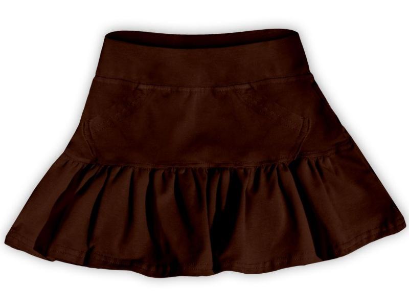 Dětská dívčí bavlněná sukně Jožánek čoko hnědá, vel. 134