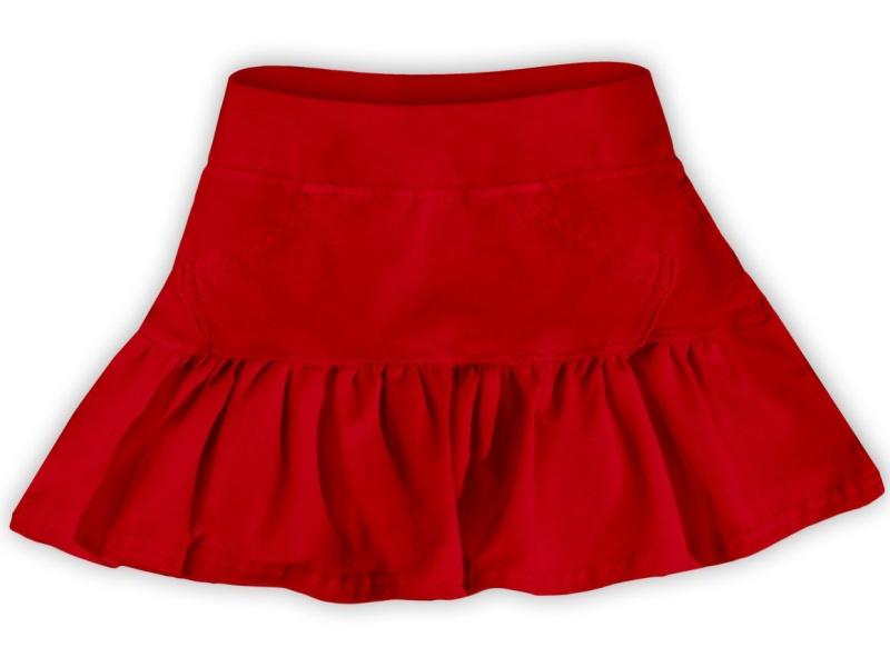 Dětská dívčí bavlněná sukně Jožánek červená, vel. 134