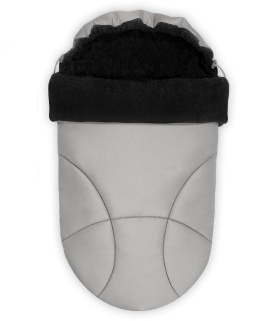 Zimní fusak do kočárku IvemaBaby Tiny šedá / černá
