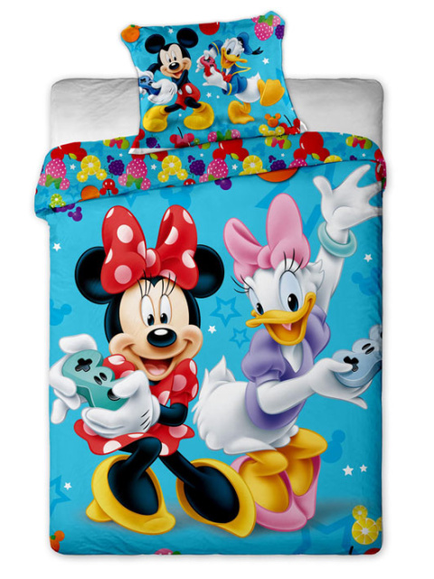 Jerry Fabrics Dětské povlečení Mickey a Minnie games bavlna 140x200 + 70x90 cm