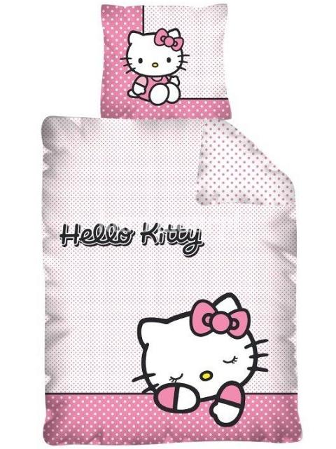 Detexpol Dětské povlečení Hello Kitty bavlna 140x200 + 70x90 cm