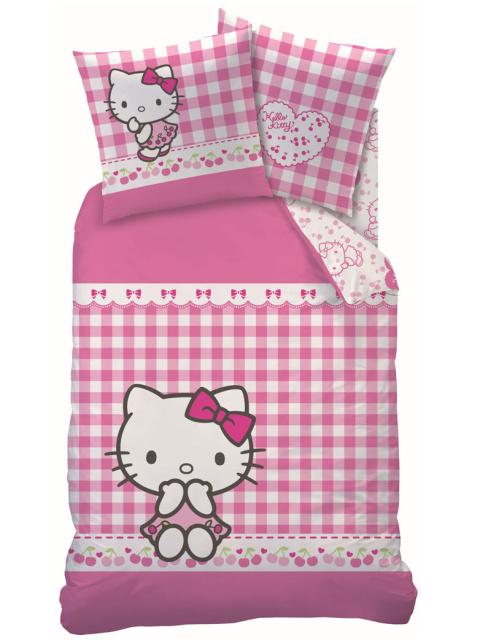 CTI Povlečení Hello Kitty VICHY bavlna 140x200 + 70x90 cm