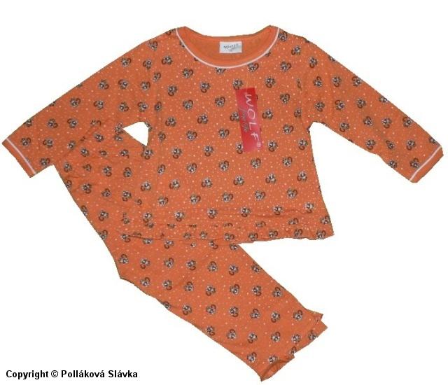 Kojenecké slabé pyžamo Wolf S2051 Oranžové, vel. 86