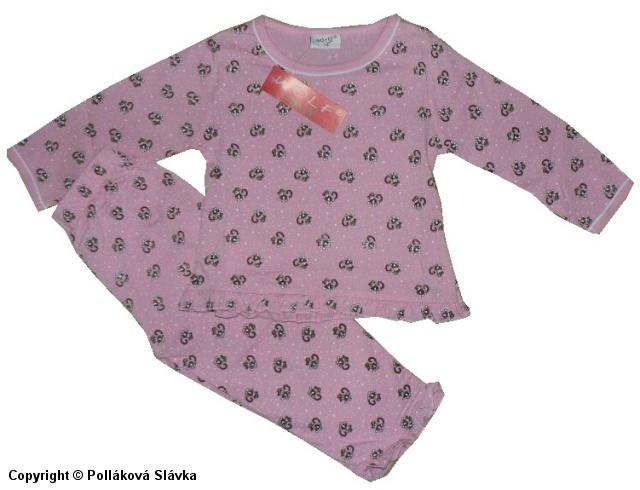 Kojenecké slabé pyžamo Wolf S2051 Růžové, vel. 80