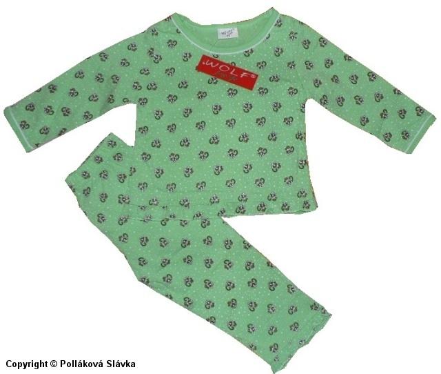 Kojenecké slabé pyžamo Wolf S2051 Zelené, vel. 74