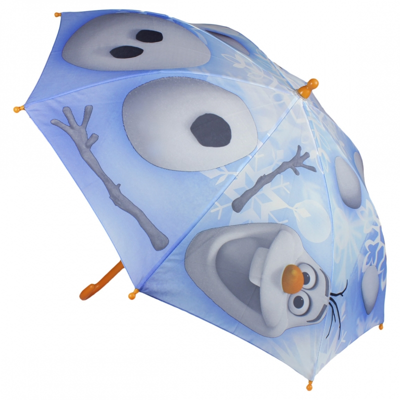Disney Brand Dětský deštník Frozen Olaf oranžová rukojeť