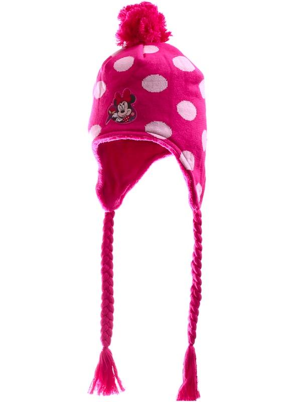 Dětská dívčí zimní čepice Setino 770-508 Minnie růžová, vel. 54