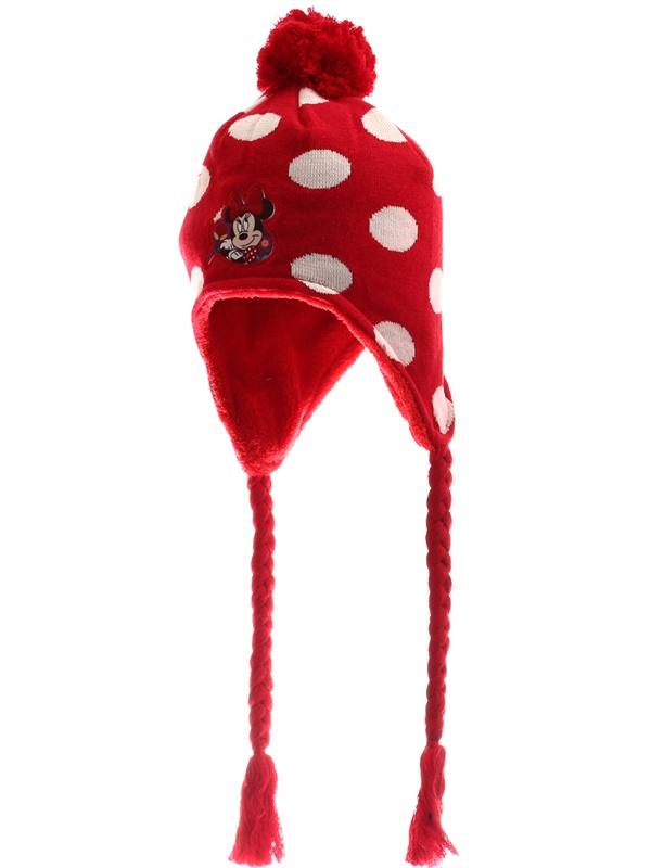 Dětská dívčí zimní čepice Setino 770-508 Minnie červená, vel. 54